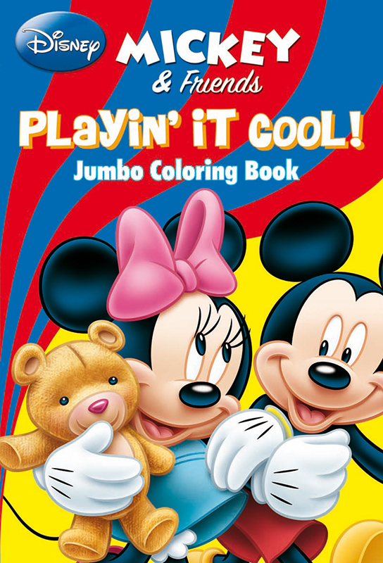 DISNEY MICKEY AND FRIENDS PLAYIN IT COOL Jumbo Coloring Book