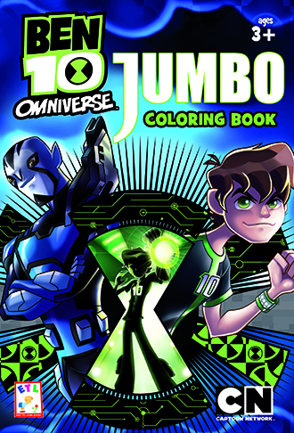 BEN 10 OMNIVERSE Jumbo Coloring Book Ages 3