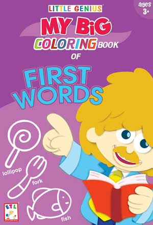 little genius coloring book of first word - Big Coloring Books